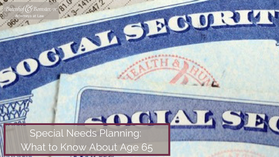 Special Needs Planning Age 65